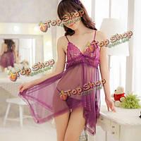 Сексуальный ремень прозрачные кружева марлей пижамы пижамы, фото 1