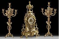 Набор Virtus.Часы настольные +пара канделябров Vega на 5 свечей