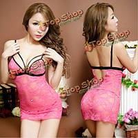 Сексуальная ремешками открытая спина шнурка Babydoll горячий ночной рубашке, фото 1