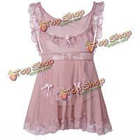 Сексуальный костюм горничной кружева платье равномерное чистки белье косплей износ