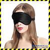 Шёлковая маска для сна Silenta Silk (маска из шелка), чёрный цвет + ПОДАРОК.