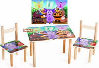 Набор мебели детский стол и 2 стульчика Лунтик, Финекс