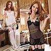 Сексуальное женское babydoll ночное дамское белье украшает стринги