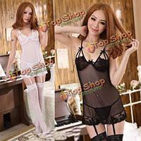 Сексуальное женское babydoll ночное дамское белье украшает стринги, фото 1