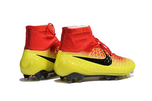 Футбольные бутсы Nike Magista Obra FG Total Crimson/Black/Bright Citrus