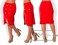Женская юбка в расцветке Батал л-202297