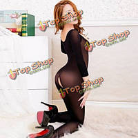 Сексуальное искушение дамы сиамские прозрачный шелковый чулок, фото 1