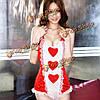 Сексуальные женщины прекрасный персик сердца сиамских кружева медсестра костюм горничной