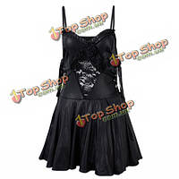 Полный любви элегантный ангел черный костюм