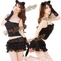 Хэллоуин catwomen сексуальная экзотическая вырезом платья равномерное искушение костюмы белье ночное белье, фото 1