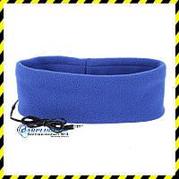 Повязка на голову (для сна) со встроенным динамиком, синий цвет.