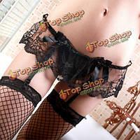 Сексуальные женщины цветочные кружева суспендер стринги удерживать чулок пояса для чулок