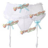 Женщины девушки цветочные кружева бантом юбка чулки подтяжк сексуальные подвязки струнные, фото 1