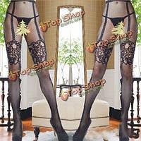 Горячие искушение жаккарда сетка ажурные колготки чулки интимное белье, фото 1