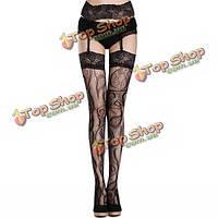Женщины сексуальные подвязки кружева сные чулки сетка ажурные колготки интимная, фото 1