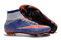 Футбольные бутсы Nike Mercurial Superfly FG Racing Blue/Total Orange/Grey 44, фото 1