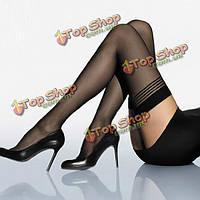 Женские в полоску черные сексуальные чулки колготки, фото 1