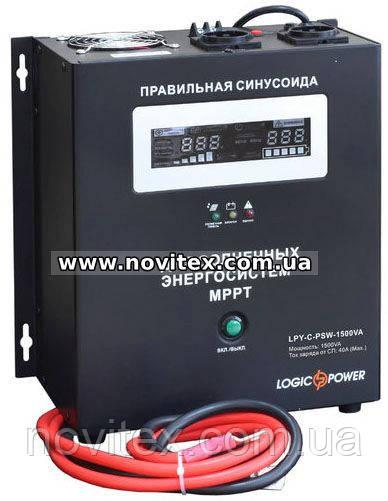 Инвертор Logicpower LPY-C-PSW-1500VA (1050Вт), 24В, с MPPT