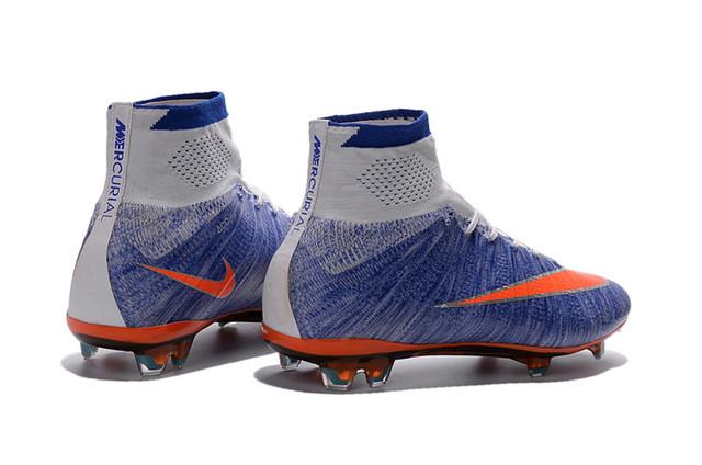 Футбольные бутсы Nike Mercurial Superfly FG Racing Blue/Total Orange/Grey