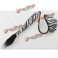 Зебры с струна с хвостом сексуальное нижнее белье трусики для мужчин