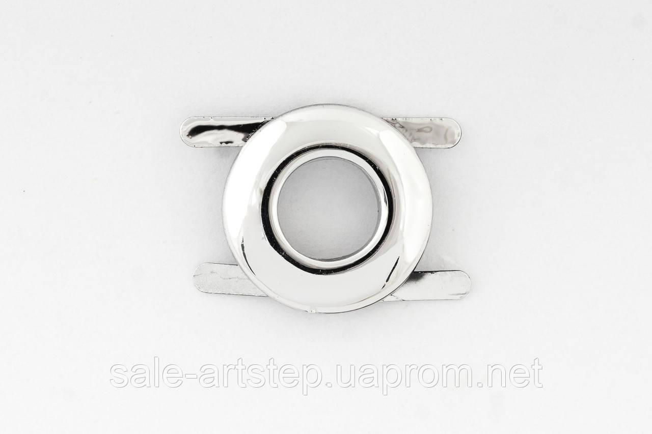 Металлический декор круглый 20мм Металл, серебро
