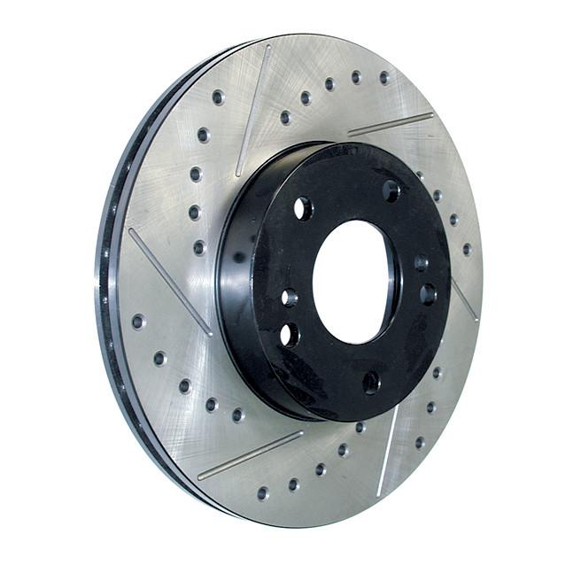 Диск тормозной задний левый StopTech 127.44145L перфорация + слот для Toyota RAV4 2012+