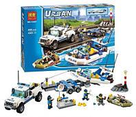 Конструктор Bela серия Urban 10421 Полицейский патруль (аналог Lego City 60045)