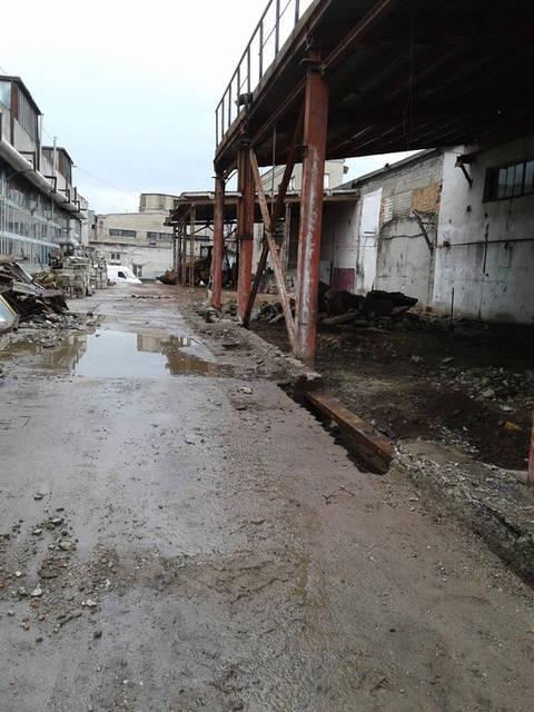 Каркас здания после демонтажа