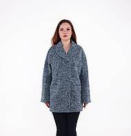 Женское осеннее пальто из шерсти-букле