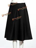 Винтаж высокой талией юбка платье юбки для женщин