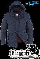 Куртка зимняя мужская на меху Braggart Dress Code - 1698C светло-синяя