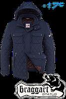 Куртка зимняя мужская на меху Braggart Dress Code - 1698B синяя