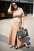 Батальное женское длиное платье из котона