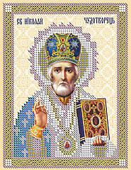 Схема для вышивки бисером Св. Николай Чудотворец