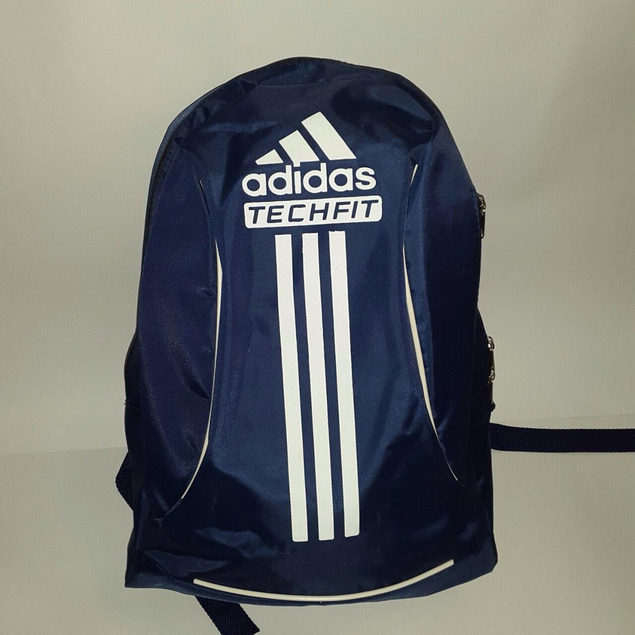 Рюкзак спортивный Adidas TechFit, Адидас Течфит синий с белой надписью ( код: IBR058ZO )