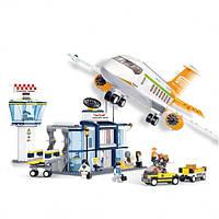 Большой конструктор Sluban Авиация М38-В0367, 678 пластиковых деталей, 8 фигурок, для детей от 6 лет