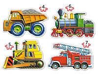 Пазл Грузовой транспорт 4х1 (4,5,6,7) В-04133