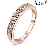 Позолоченное кольцо с австрийскими кристаллами р 19,20,22 код 193 19