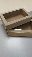 """Коробка """"крафт"""" с окошком 22*14*5 (код 04940), фото 1"""