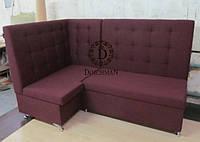 Угловой диван с высокой спинкой для кафе, баров, ресторанов, залов ожидания