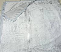 Плед/покрывало с кантом 210*230 (Флис) светло-серый