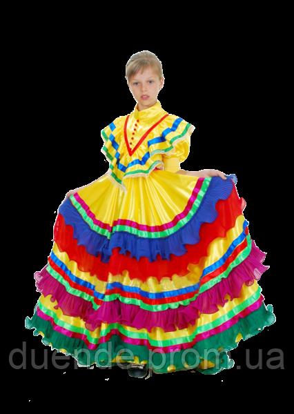 Мексиканка национальный карнавальный костюм для девочки / BL -  ДН55