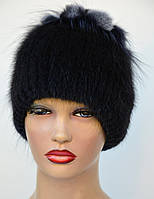 """Женская меховая шапка из ондатры """"Нашивка-петли"""", фото 1"""