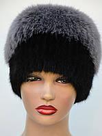 """Женская меховая шапка из ондатры """"Пирамида"""", фото 1"""