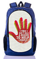 "Детский рюкзак "" TO HELP PEOPLE"" (синий), фото 1"