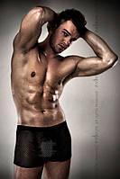Шикарные мужские шортики Passion 004 SHORT черные, Черный, L\XL