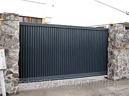 Откатные ворота Хардвик в исполнении стандарт 3000х2100
