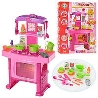 Большая игрушечная кухня 661-51 (плита, духовка, посуда), звук+свет, 3+