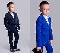 Брючный вельветовый костюм для мальчика мод.2108 (р.110-146)