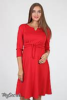 Жіночна сукня для вагітних і годування Sunny DR-36.052, червона розмір М, фото 1